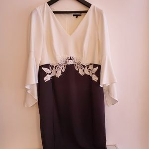 Sangria Dresses - [Sangria] two tone dress